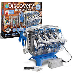 Discovery #Mindblown Toy Kids Model Engine Kit in Blue/Black