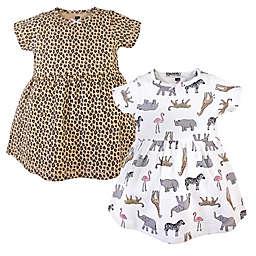 Hudson Baby® 2-Pack Pink Safari Dresses