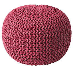 Butler Specialty Company Wool Pouf in Pink