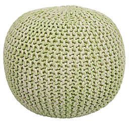 Butler Specialty Company Wool Pouf in Green