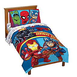 Marvel® Super Hero Adventures Double Team 4-Piece Toddler Bedding Set