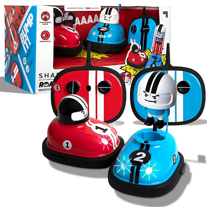 Alternate image 1 for Sharper Image® Speed Bumpers Road Rage Remote Controlled Cars in Blue/Red