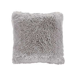 CosmoLiving Cleo Ombre Shaggy Faux Fur Square Throw Pillow
