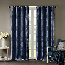 SunSmart Bentley Ogee Knitted Jacquard Total Blackout Window Curtain Panel