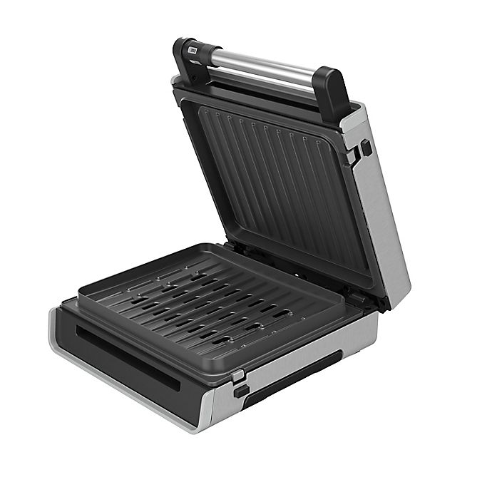Alternate image 1 for George Foreman® Smokeless Contact Grill in Stainless Steel