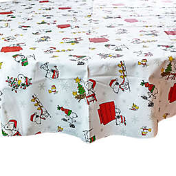 PEANUTS™ 70-Inch Round Snoopy Holiday Tablecloth