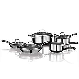 The Rock by Starfrit Nonstick Stainless Steel 10-Piece Cookware Set