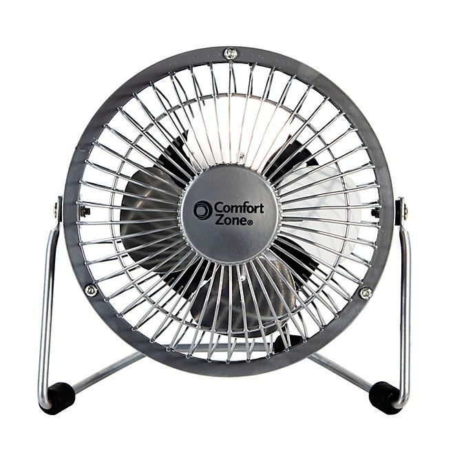 Alternate image 1 for Comfort Zone® 4-Inch Cradle High Velocity Dual Powered Fan
