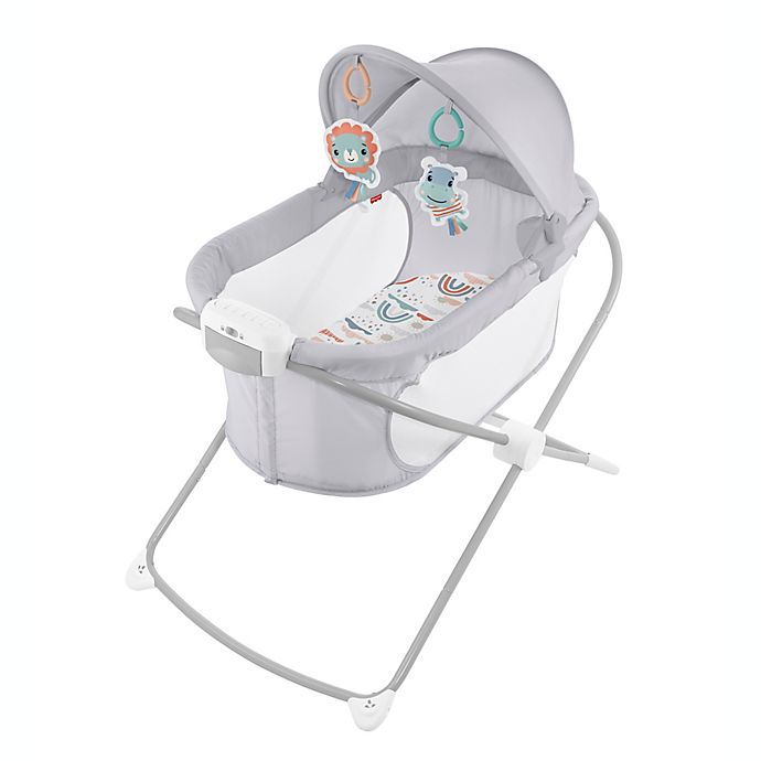 Alternate image 1 for Fisher-Price® Soothing View™ Rainbow Showers Projection Bassinet