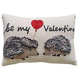 """Be My Valentine's"" 14-Inch x 20-Inch Oblong Throw Pillow"