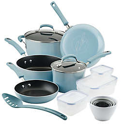 Rachael Ray™ Classic Brights Hard Enamel Nonstick 19-Piece Cookware Set