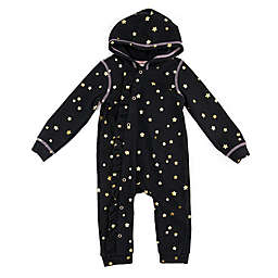 Sovereign Code® Size 6-9M Stars Romper in Black/Gold