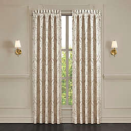 J. Queen New York™ Trinity 2-Pack 84-Inch Rod Pocket Window Curtain Panels in Champagne