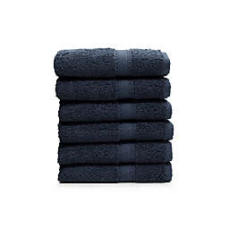 Linum Home Textiles Sinemis Washcloths in Navy (Set of 6)