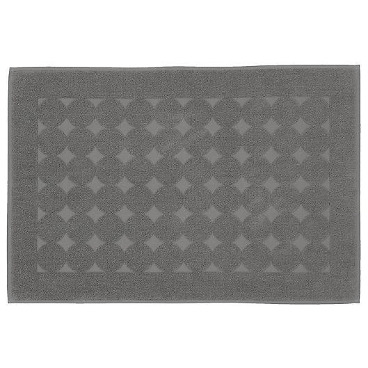 Alternate image 1 for Linum Home Textiles Sinemis Circle Design Bath Mat in Dark Grey