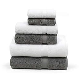 Linum Home Textiles Sinemis 6-Piece Towel Set in Grey/White