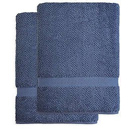 Linum Home Textiles Herringbone Bath Sheets (Set of 2)