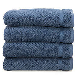 Linum Home Textiles Herringbone Hand Towels (Set of 6)