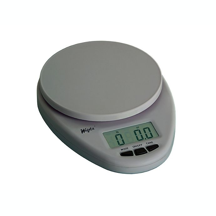 Alternate image 1 for Escali® Weigh'n Digital Kitchen Scale in Silver