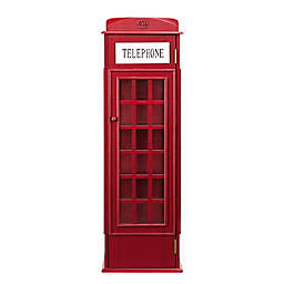 Phone Booth Storage Cabinet in Red