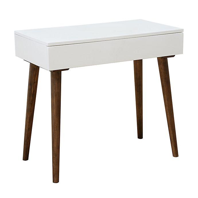Alternate image 1 for HomeFare Mid-Century Modern Mini Desk in White