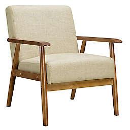 Mid-Century Modern Accent Chair in Beige