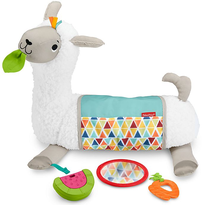 Alternate image 1 for Fisher-Price® Llama Grow-with-Me Tummy Time Play Pillow