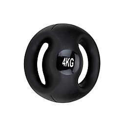 Mind Reader 8.8 lb. Medicine Ball with Handles in Black