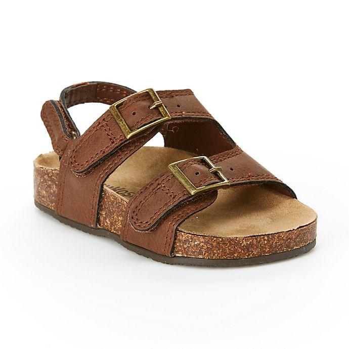 Alternate image 1 for OshKosh B'gosh® Size 5 Bruno Footbed Sandal in Brown