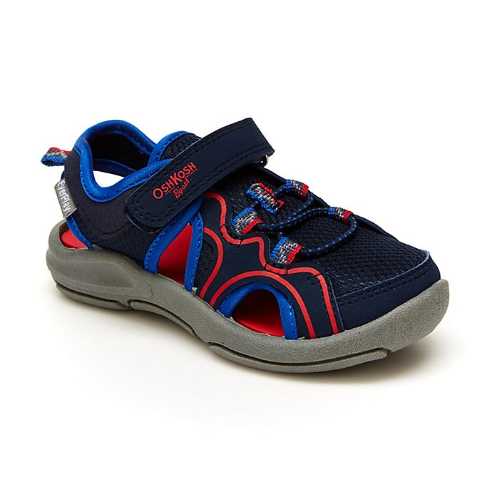 Alternate image 1 for OshKosh B'gosh® Sporty Sandal in Navy/Red