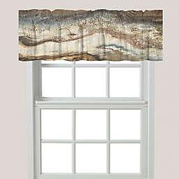 Laural Home® Lava Flow Window Valance in Beige/Brown