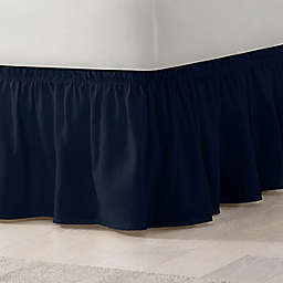 EasyFit™ Solid Twin/Full Ruffled Bed Skirt in Navy
