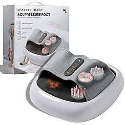 Sharper Image® Massager Acupoint Foot Multipoint Acupressure in White/Grey