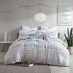 Swift Home Anahita Clip Dot 5-Piece Reversible Full/Queen Comforter Set in Blush