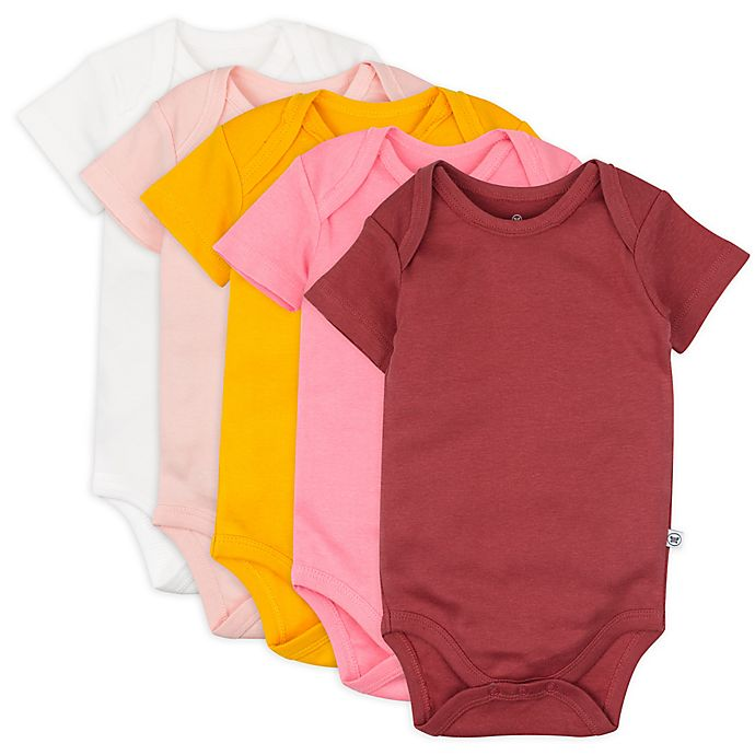 Alternate image 1 for The Honest Company® 5-Pack Organic Cotton Short Sleeve Bodysuits