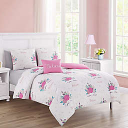 Newport Home Interiors Unicorn Fun Comforter Set in Pink