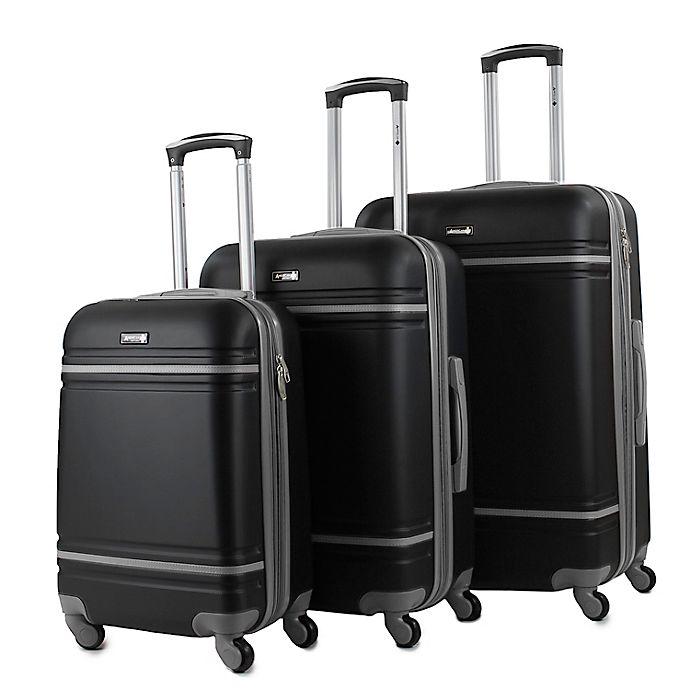 Alternate image 1 for American Sport Plus Varsity 3-Piece Hardside Spinner Luggage Set