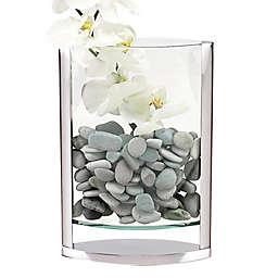 Badash The Donald 12-Inch Glass and Aluminum Vase