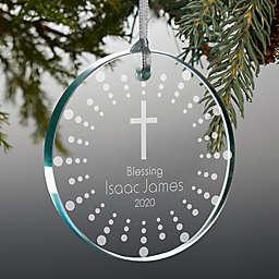 God Bless 3-Inch Presonalized Premium Glass Christmas Ornament