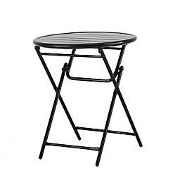 Bee & Willow™ Home Elmridge Metal Folding Bistro Table in Black