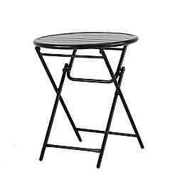 Bee & Willow™ Home Elmridge Metal Folding Bistro Table in Black
