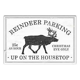 """Reindeer Parking"" 18-Inch x 24-Inch Canvas Wall Art"