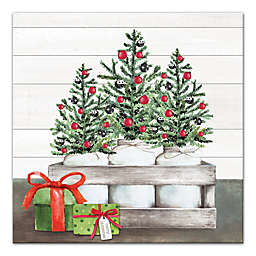 Mason Jar Christmas 24x24 Canvas Wall Art