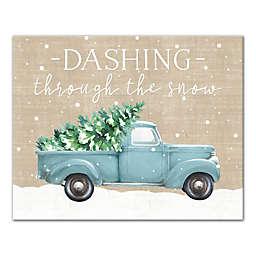 """""""Dashing Through The Snow"""" 16-Inch x 20-Inch  Canvas Wall Art"""