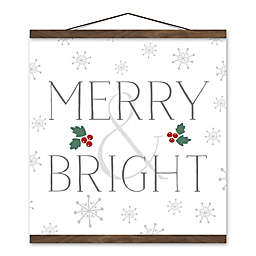 Merry and Bright 16x16 Hanging Canvas