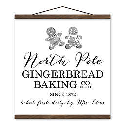 North Pole Gingerbread Co. 16x16 Hanging Canvas