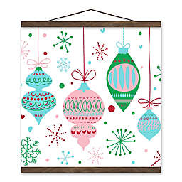 Retro Funky Ornaments 16x16 Hanging Canvas