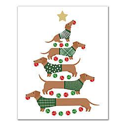 Christmas Tree Weenies 8x10 Canvas Wall Art
