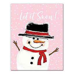 Let it Snow Snowman 11x14 Canvas Wall Art