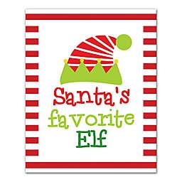 Santa's Favorite Elf 8x10 Canvas Wall Art